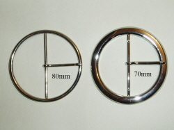 80mm and 70mm Circle Buckles